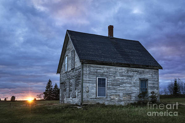 Abandoned Print featuring the photograph New Day Old House by John Greim
