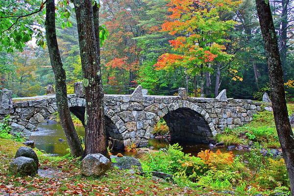 Bridge Art Print featuring the photograph New Hampshire Bridge by Diana Hatcher