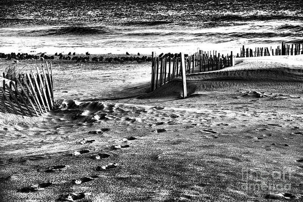 Beach Art Print featuring the photograph New Jersey Shore by Chuck Kuhn