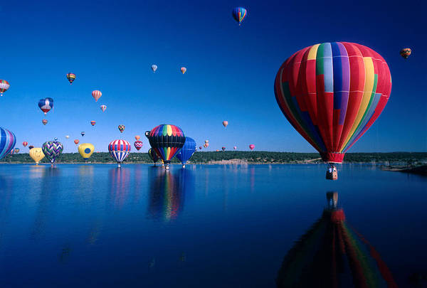 Hot Air Balloon Art Print featuring the photograph New Mexico Hot Air Balloons by Jerry McElroy