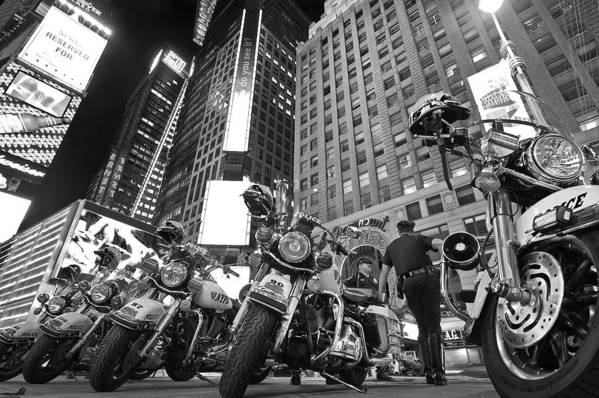 Nypd Art Print featuring the photograph New York's Finest by Robert Lacy
