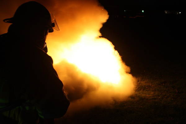 Firefighting Art Print featuring the photograph Night Training by Scott Stewart