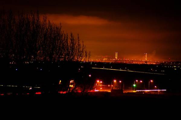 Night Art Print featuring the photograph Nocturnal Highway by Paul Kloschinsky