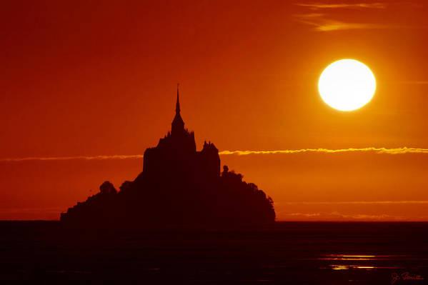 Sunset Art Print featuring the photograph Normandy Sunset by Joe Bonita