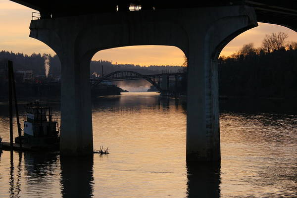 Oregon City Art Print featuring the photograph North Of Willamette Falls by Russell Bowman