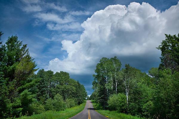 Cloud Art Print featuring the photograph Northwoods Road Trip by Steve Gadomski