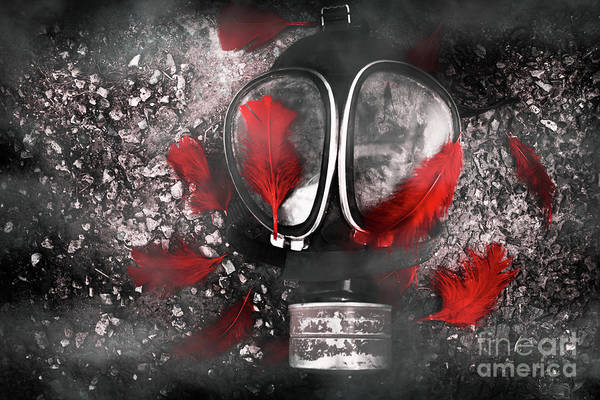 Gasmask Art Print featuring the photograph Nuclear Smog by Jorgo Photography - Wall Art Gallery