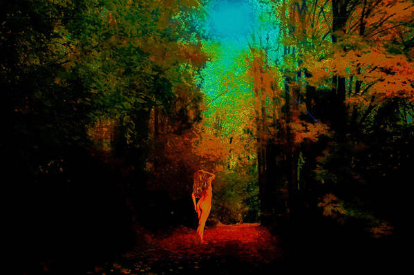 Art Print featuring the photograph Nude In The Forest by Jeff Burgess