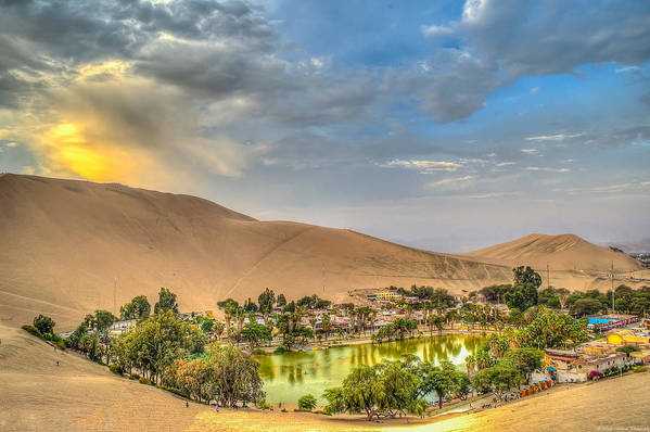 Huacachina Art Print featuring the photograph Oasis by Dado Molina