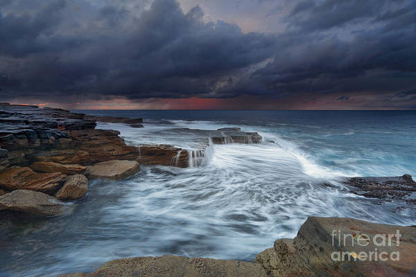 Weather Art Print featuring the photograph Ocean Stormfront Maroubra by Leah-Anne Thompson