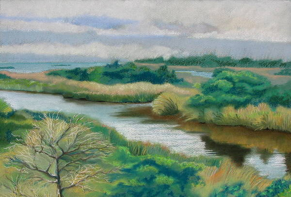 Ocracoke Art Print featuring the painting Ocracoke Afternoon by Shirley Galbrecht