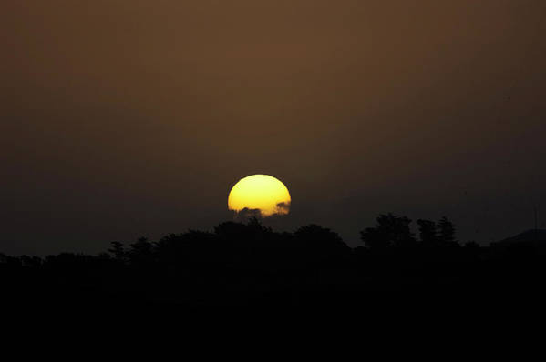Sunset Art Print featuring the photograph October Sunset by Peter Hill