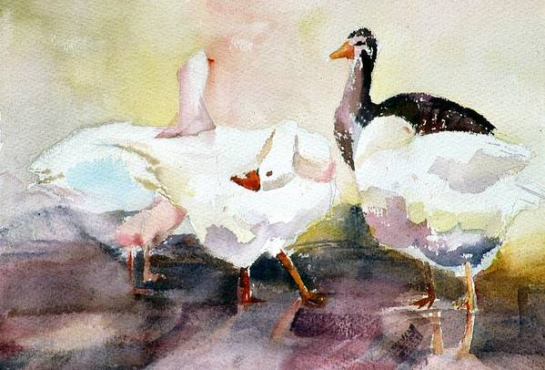Animal Art Print featuring the painting Oddball by Connie Williams