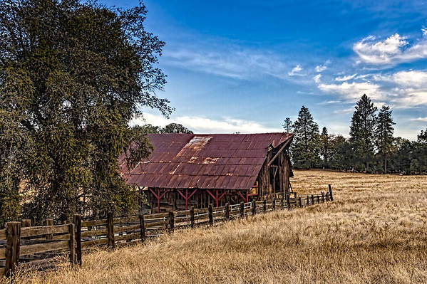 Old Building Art Print featuring the photograph Old Barn Storage by Bruce Bottomley
