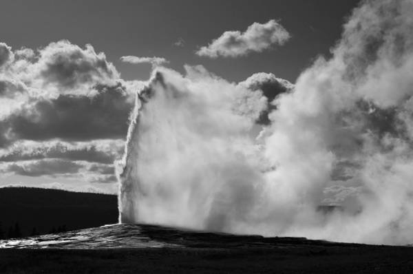 Old Faithful Geyser Art Print featuring the photograph Old Faithful Geyser by Chad Davis