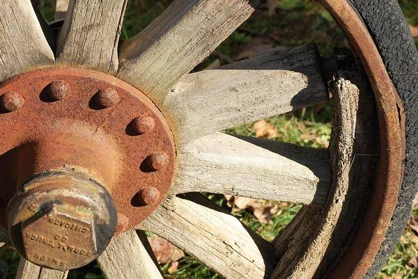Wheel Art Print featuring the photograph Old Farm Wheel by Peter McIntosh