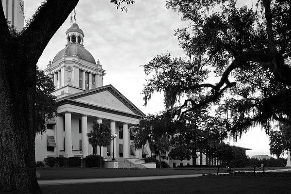 Black And White Photography Art Print featuring the photograph Old Florida State Capitol Building by Wayne Denmark