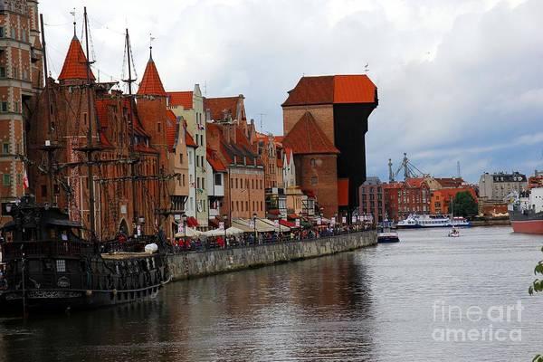 Port Art Print featuring the photograph Old Gdansk Port Poland by Sophie Vigneault