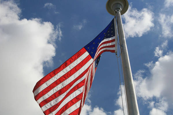 Flag Art Print featuring the photograph Old Glory 1 by Bob Gardner