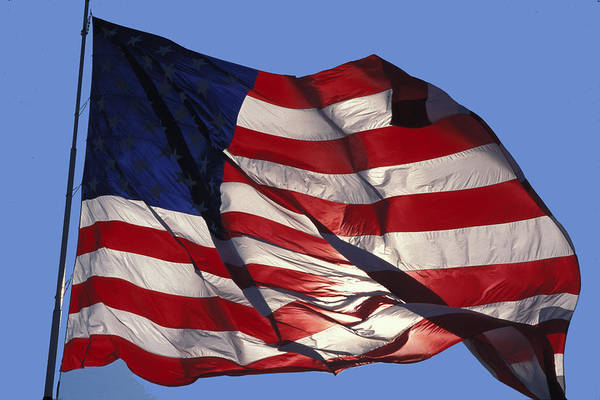American Art Print featuring the photograph Old Glory by Carl Purcell