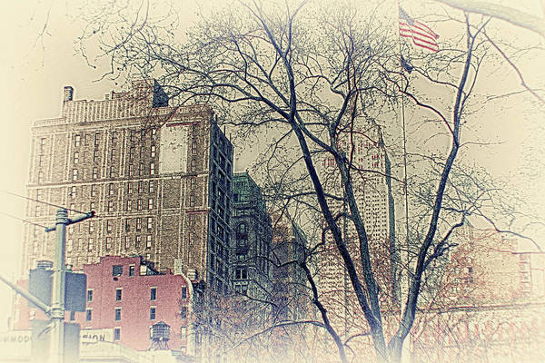 Old Glory Print featuring the photograph Old Glory In Old Style And Empire by Alex AG