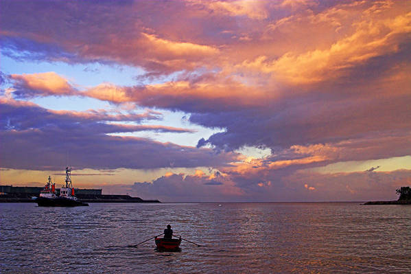 Ocean Art Print featuring the photograph Old Man And The Sea- St Lucia by Chester Williams
