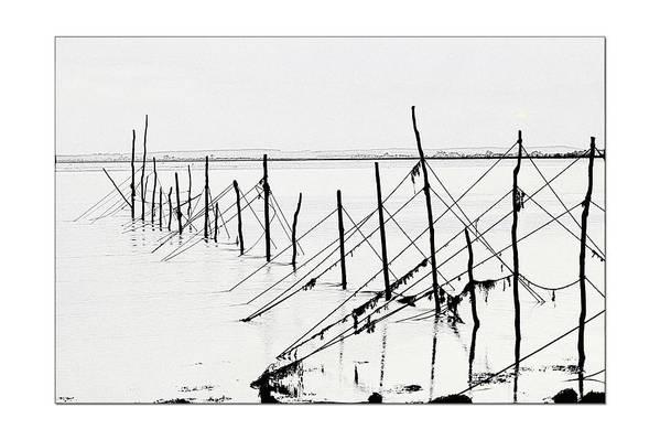 Landscape Art Print featuring the photograph Old Nets by Derek Beattie