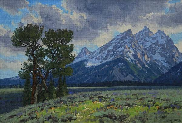 Landscape Art Print featuring the painting Old Patriarch by Lanny Grant