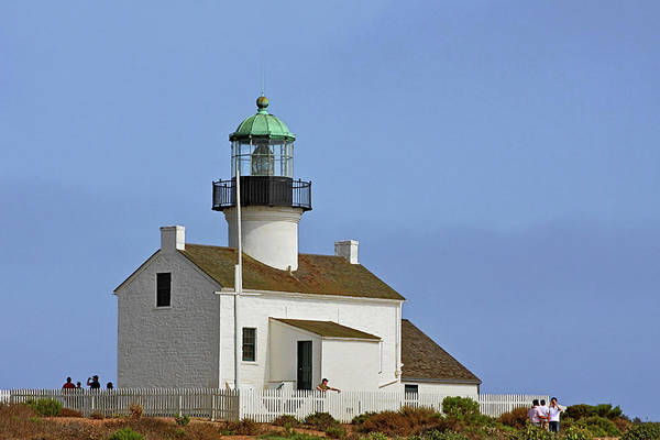 Old Point Loma Lighthouse Print featuring the photograph Old Point Loma Lighthouse San Diego California by Christine Till