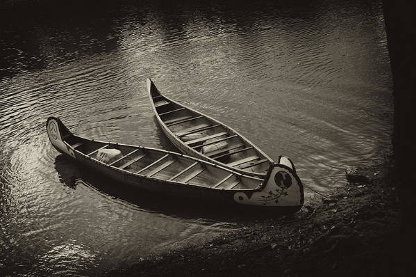 Canoe Art Print featuring the photograph Old River by Off The Beaten Path Photography - Andrew Alexander