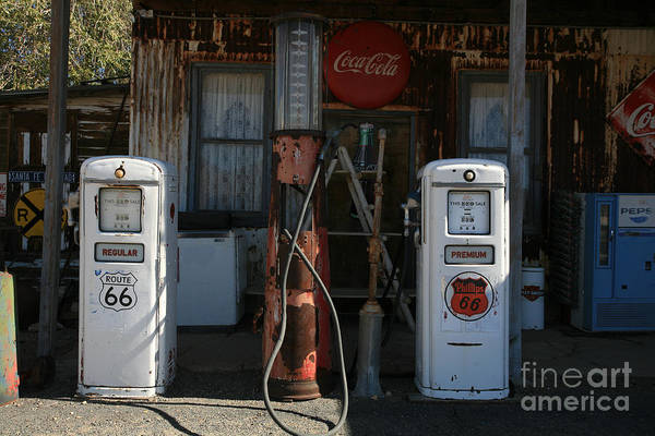 Old Art Print featuring the photograph Old Route 66 Gas Station by Timothy Johnson