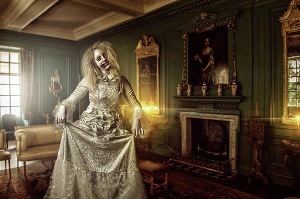 Art Print featuring the digital art Olde Maiden by Clinton Lofthouse