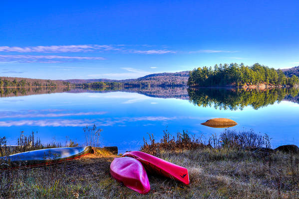 David Patterson Art Print featuring the photograph On The Shore Of Seventh Lake by David Patterson