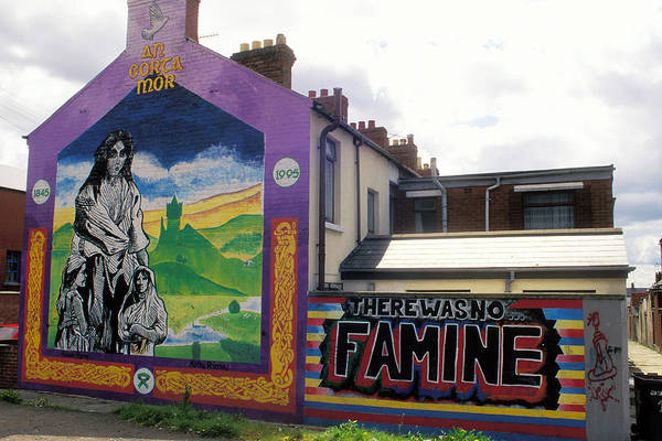 Art; Painting; Mural; Murals; Famine; Death; Pain; Hunger; Starvation; House; Residence; Expression; Art Print featuring the photograph Once Upon A Famine by Carl Purcell