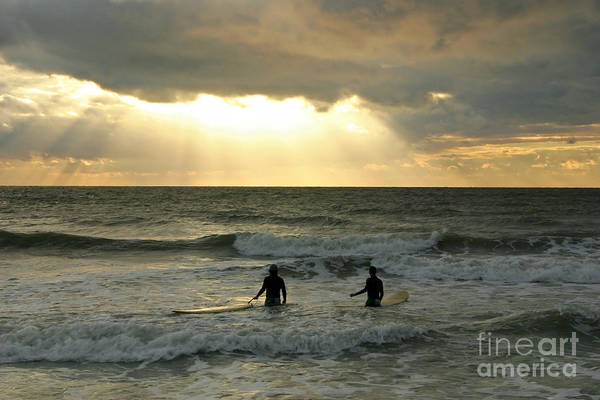 Surf Print featuring the photograph One Last Wave by Matt Tilghman
