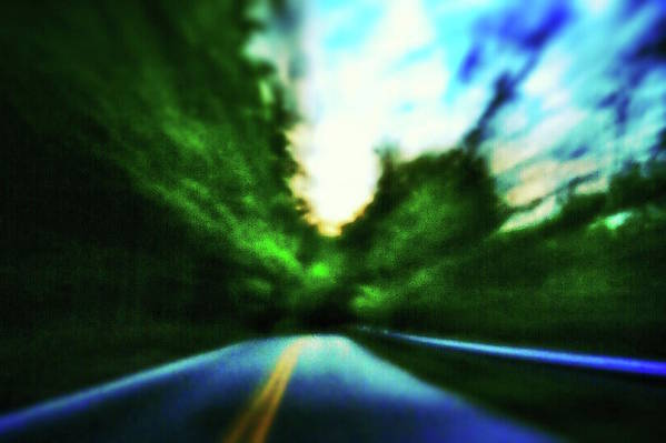 Pinhole Art Print featuring the photograph Open Road by Al Harden