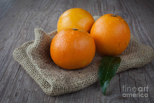 Tangerine Art Print featuring the photograph Orange Fruit by Sabino Parente