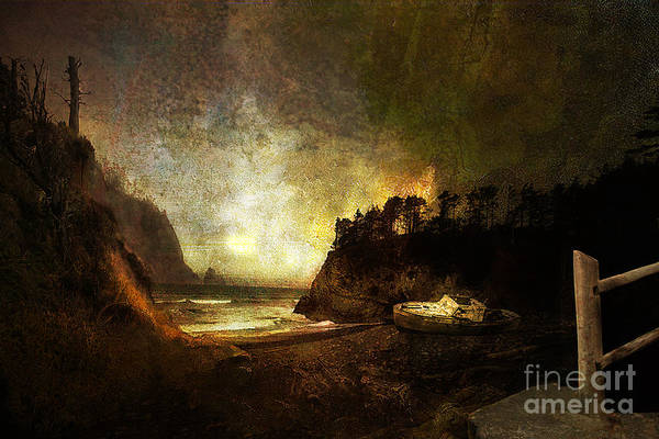 Oregon Art Print featuring the photograph Oregon Beach by Jeff Burgess