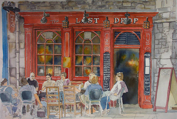 Pub Art Print featuring the painting Out For A Pint by Victoria Heryet