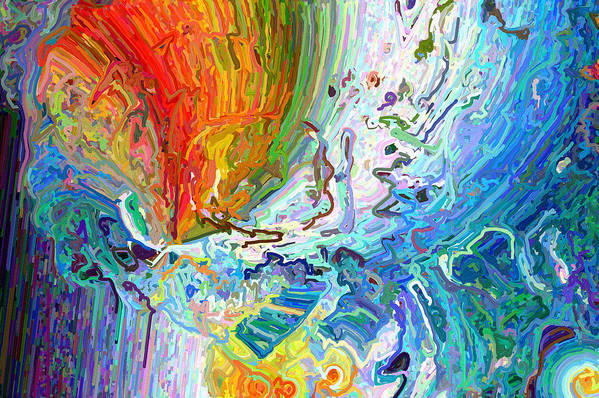 Modern Art Print featuring the digital art Out Of The Mouth by Paul Gavin