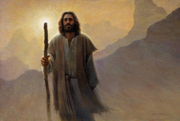 Jesus Art Print featuring the painting Out Of The Wilderness by Greg Olsen