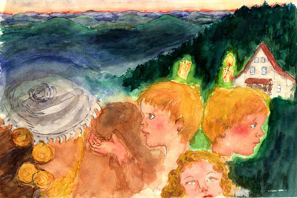 Saw Art Print featuring the painting Out Out by Diana Ludwig