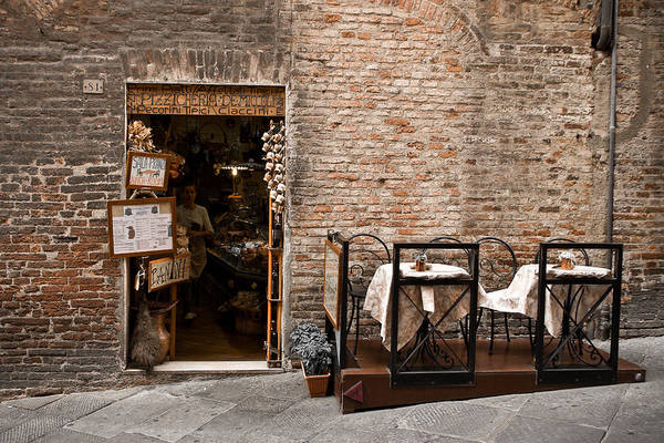 Cafe Art Print featuring the photograph Outdoor Seating Available by Carl Jackson