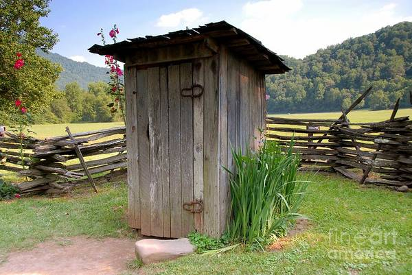 Outhouse Art Print featuring the photograph Outhouse by David Lee Thompson