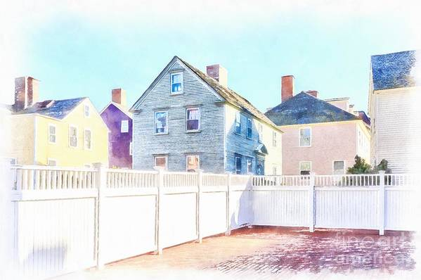 Boat Art Print featuring the painting Painted Houses Portsmouth by Edward Fielding