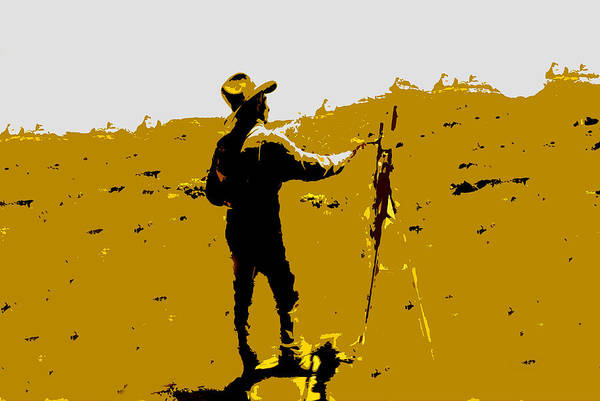 Painting Art Print featuring the painting Painting Cowboy by David Lee Thompson