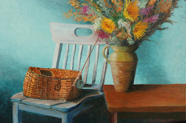 Floral Art Print featuring the painting Papa's Pole by Jerry McElroy