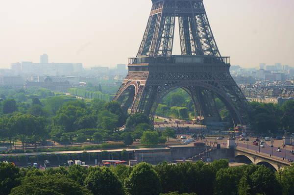Horizontal Art Print featuring the photograph Paris Tour Eiffel 301 Pollution, Pollution by Pascal POGGI
