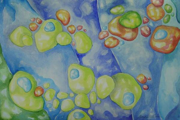 Art Print featuring the painting Pebbles by Amie La Voie-Moore