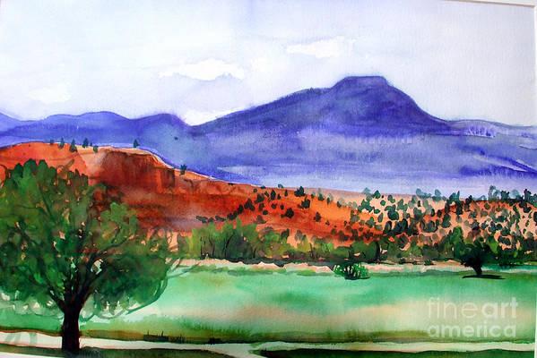 Pedernal Art Print featuring the painting Pedernal by Vanda Sucheston Hughes